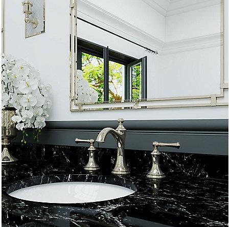 Polished Nickel Tisbury Widespread Bath Faucet - LG49-TB0D - 2