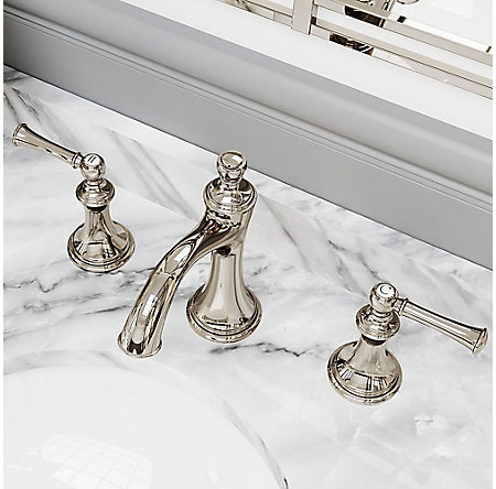 Polished Nickel Tisbury Widespread Bath Faucet - LG49-TB0D - 6