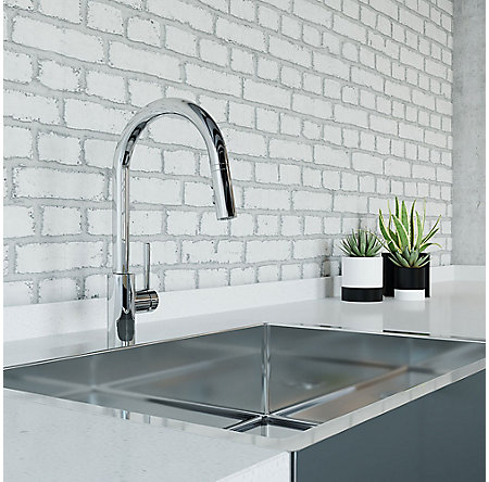 Polished Chrome Stellen 1-Handle Pull Down Kitchen Faucet - LG529-SAC - 3