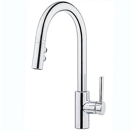Polished Chrome Stellen 1-Handle Pull Down Kitchen Faucet - LG529-SAC - 1