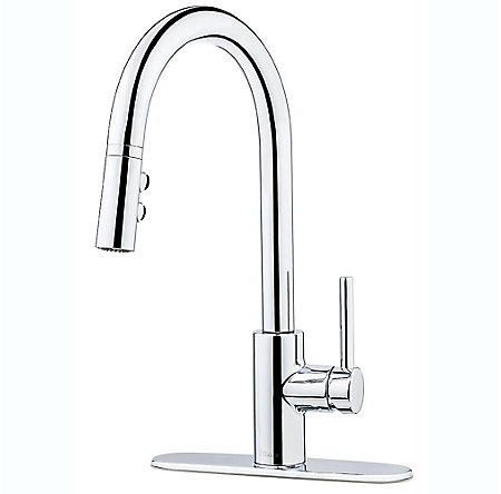 Polished Chrome Stellen 1-Handle Pull Down Kitchen Faucet - LG529-SAC - 2