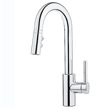 Polished Chrome Stellen 1-Handle Pull Down Bar And Prep Faucet - LG572-SAC - 1