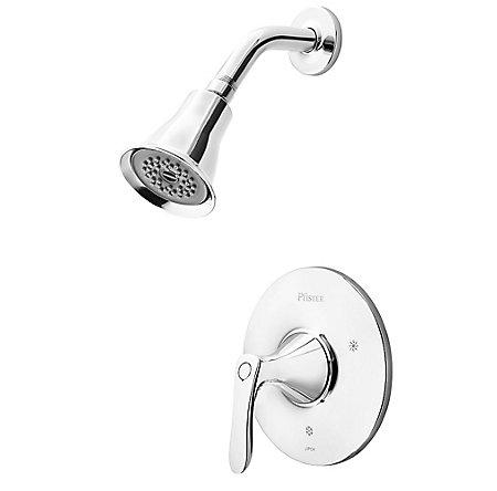 Polished Chrome Weller 1-Handle Shower, Trim Only - LG89-7WRC - 1
