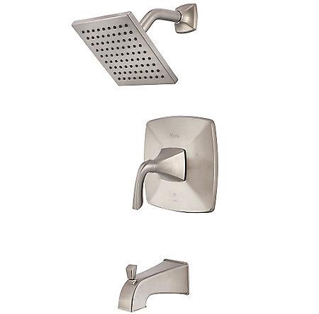 Brushed Nickel Bronson 1-Handle Tub & Shower, Trim Only - LG89-8BSK - 1