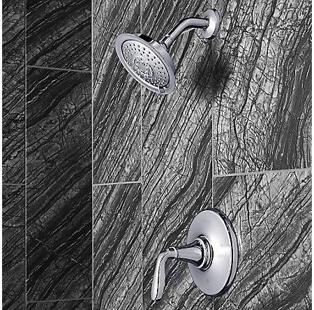 Polished Chrome Northcott 1-Handle Shower, Trim Only - LG89-7MGC - 2