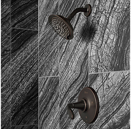 Tuscan Bronze Northcott 1-Handle Shower, Trim Only - LG89-7MGY - 3