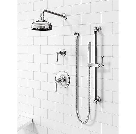 Polished Chrome Tisbury 1-Handle Tub & Shower, Trim Only - LG89-8TBC - 2