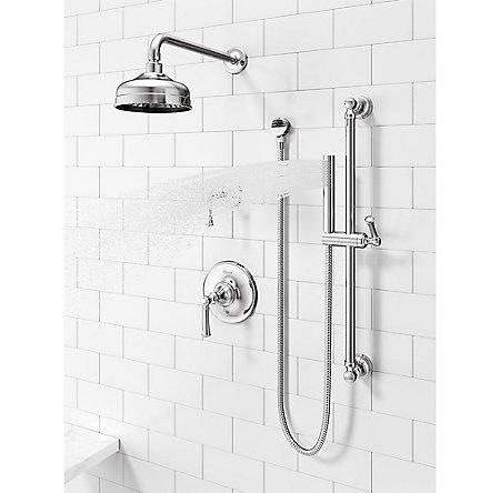 Polished Chrome Tisbury 1-Handle Tub & Shower, Trim Only - LG89-8TBC - 4