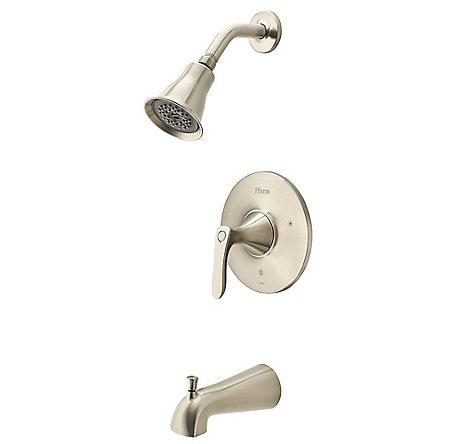 Brushed Nickel Weller 1-Handle Tub & Shower, Trim Only - LG89-8WRK - 1