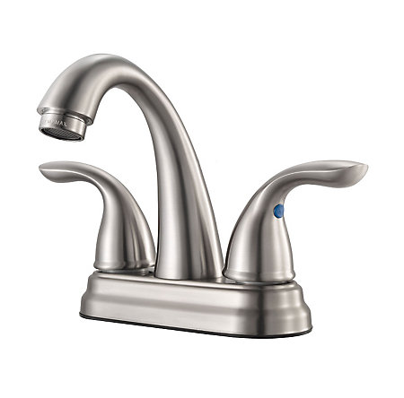 Brushed Nickel Job Pack Pfirst Series Centerset Bath Faucet - LJ148-700K - 1