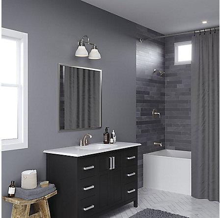 Brushed Nickel Masey Centerset Bathroom Faucet - LF-048-MCKK - 4