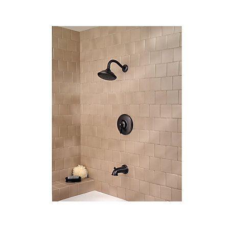 Tuscan Bronze Langston 1-Handle Tub and Shower, Complete with Valve - MP8-LNYY - 2
