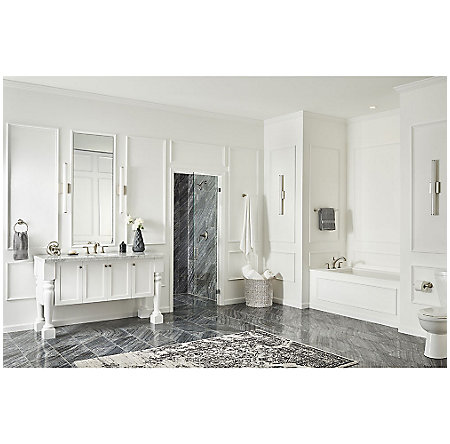 Brushed Nickel Northcott 1-Handle Shower, Trim Only - LG89-7MGK - 4