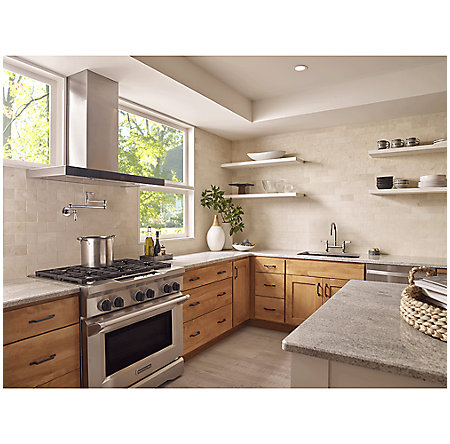 Polished Chrome Port Haven Wall Mount Pot Filler - GT533-TDC - 4