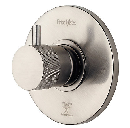 "Brushed Nickel 3/4"" Thermostatic Trim - R78-9VUK - 1"