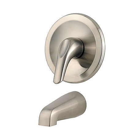 Brushed Nickel Pfirst Series 1-Handle Tub, Trim Only  - R89-010K - 1