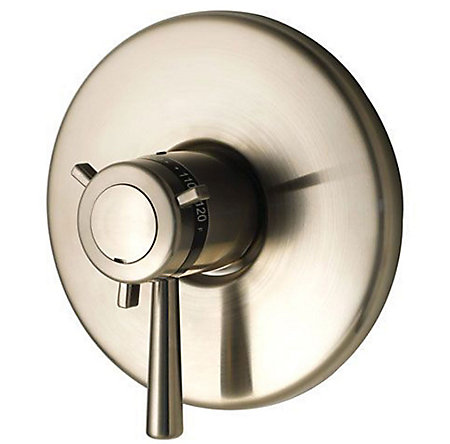 "Brushed Nickel 1/2"" Thermostatic Valve Only Trim - R89-1TUK - 1"