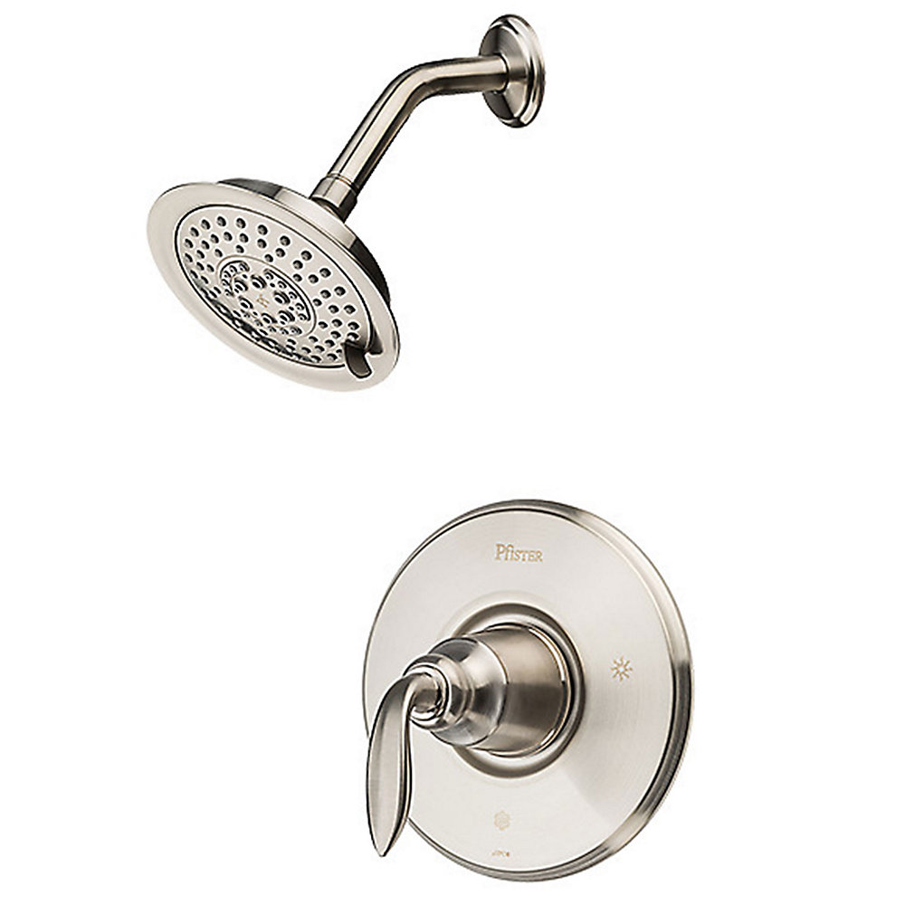 Brushed Nickel Avalon 1 Handle Shower  Trim Only   R89 7CBK   1. Brushed Nickel Avalon 1 Handle Shower  Trim Only   R89 7CBK
