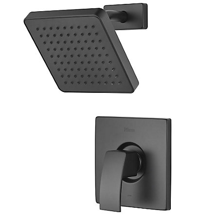 Black Kenzo 1-Handle Shower, Trim Only - R89-7DFB - 1
