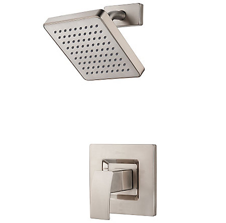 brushed nickel kenzo shower only - r89-7dfk - 1
