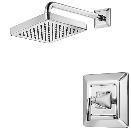 Polished Chrome Park Avenue 1-Handle Shower, Trim Only - R89-7FEC - 1