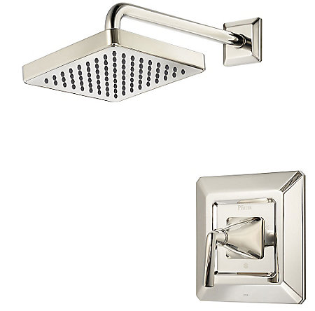 Polished Nickel Park Avenue 1-Handle Shower, Trim Only - R89-7FED - 1