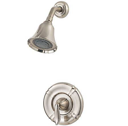 Brushed Nickel Santiago 1-Handle Shower, Trim Only - R89-7STK - 1