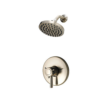 "Brushed Nickel 1/2"" Thermostatic Shower Only Trim - R89-7TUK - 1"