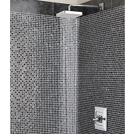 Polished Chrome Carnegie 1-Handle Shower, Trim Only - R89-7WEC - 2