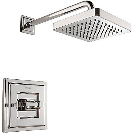 Polished Chrome Carnegie 1-Handle Shower, Trim Only - R89-7WEC - 1