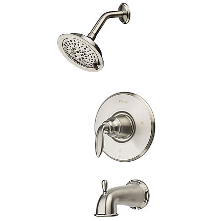 Brushed Nickel Avalon Tub & Shower Combo - G89-8CBK - 1