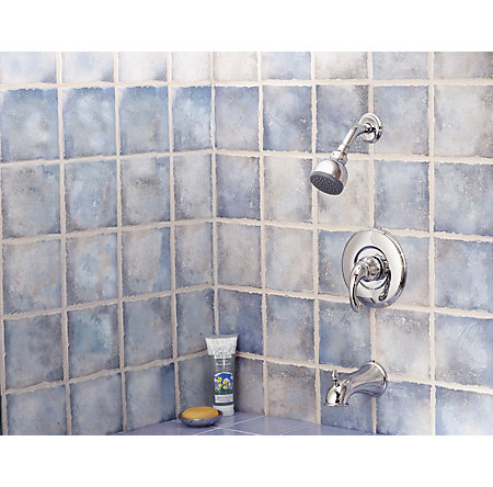 Polished Chrome Treviso Tub & Shower Combo - R89-8DC0 - 2