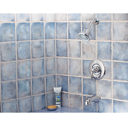 Polished Chrome Treviso Tub & Shower Combo - R89-8DC0 - 3