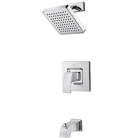Polished Chrome Kenzo Tub & Shower Combo - R89-8DFC - 1
