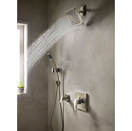 Brushed Nickel Kenzo Tub & Shower Combo - R89-8DFK - 2