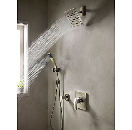 Brushed Nickel Kenzo 1-Handle Tub & Shower, Trim Only - G89-8DFK - 3