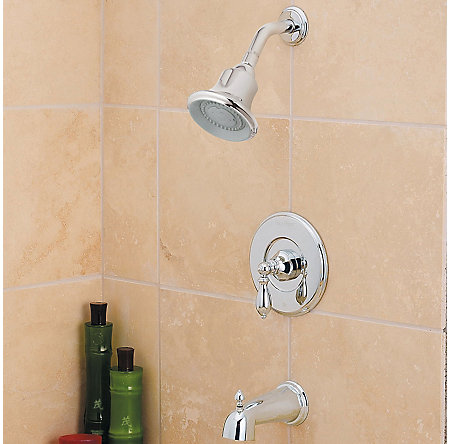 Polished Chrome Catalina Tub & Shower Combo - R89-8EBC - 2