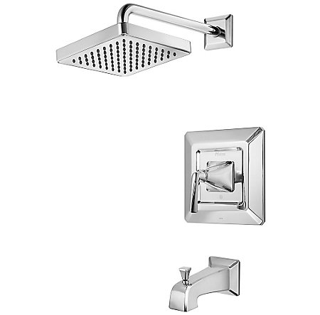 Polished Chrome Park Avenue Tub & Shower Combo - R89-8FEC - 1