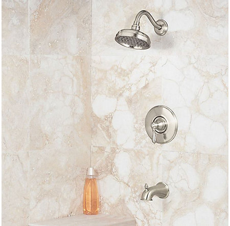 Brushed Nickel Marielle 1-Handle Tub & Shower, Trim Only - R89-8MBK - 2