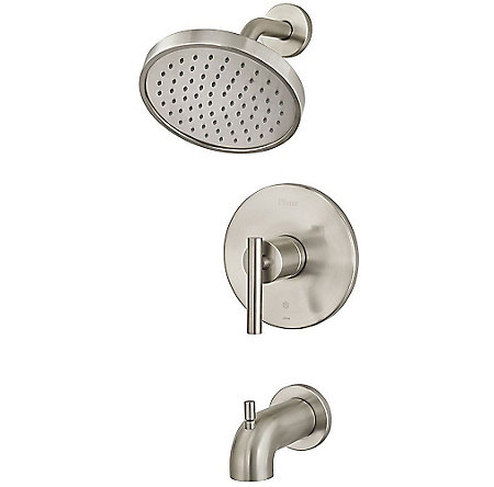 Brushed Nickel Contempra 1-Handle Tub & Shower, Trim Only - R89-8NCK - 1