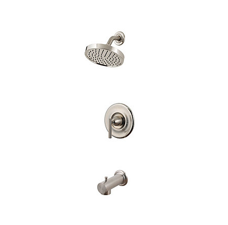Brushed Nickel Contempra Tub & Shower Combo - R89-8NK1 - 1