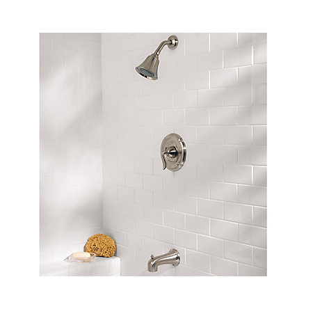 Brushed Nickel Santiago 1-Handle Tub & Shower, Trim Only - R89-8STK - 2