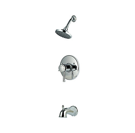 "Polished Chrome 1/2"" Thermostatic Tub & Shower Trim - R89-8TUC - 1"