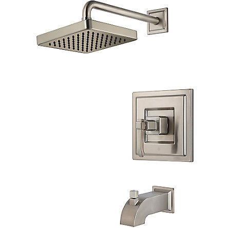 Brushed Nickel Carnegie Tub & Shower Combo - R89-8WEK - 1