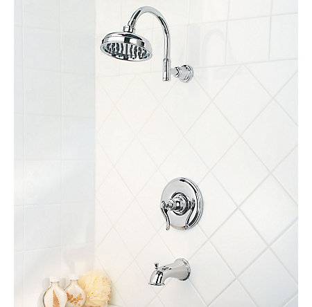 Polished Chrome Ashfield Tub & Shower Combo - R89-8YPC - 2