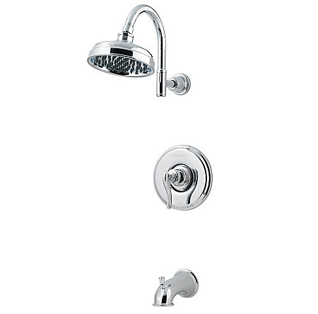 Polished Chrome Ashfield 1-Handle Tub & Shower, Trim Only - R89-8YPC - 1