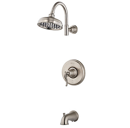 Brushed Nickel Ashfield 1-Handle Tub & Shower, Trim Only - R89-8YPK - 1