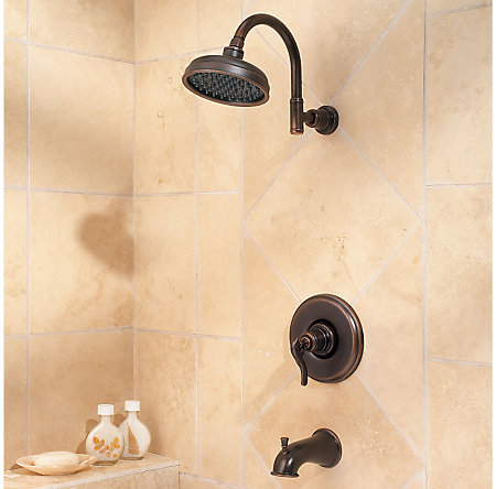 Rustic Bronze Ashfield 1-Handle Tub & Shower, Trim Only - R89-8YPU - 2