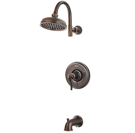 Rustic Bronze Ashfield 1-Handle Tub & Shower, Trim Only - R89-8YPU - 1