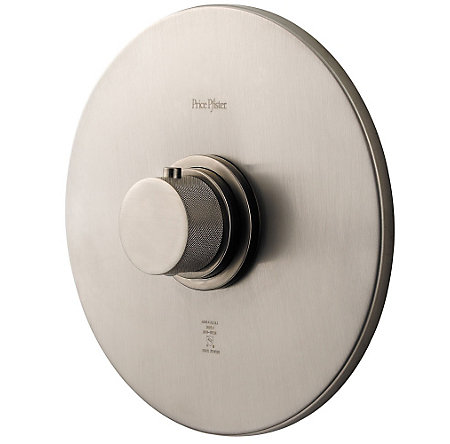 "Brushed Nickel 3/4"" Thermostatic Trim - R89-9THK - 1"